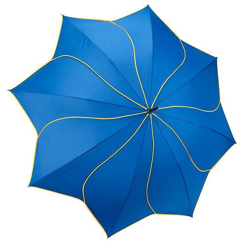 Navy / Yellow Swirl Stick Umbrella