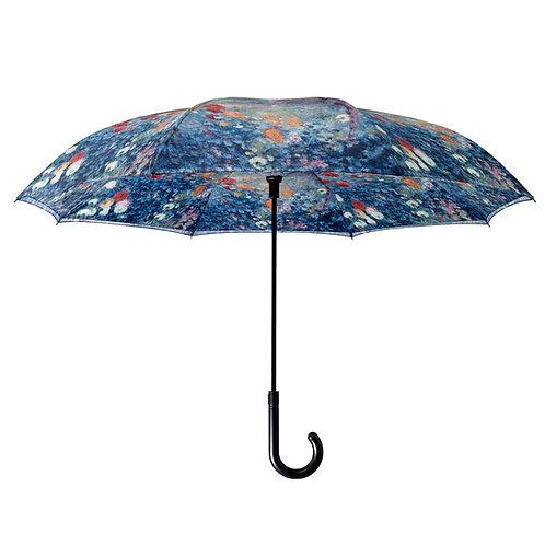 Renoir Le Jardin rue Cortot a Montmarte Stick Umbrella Reverse Close