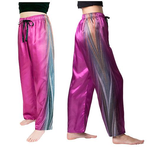 Midnight-Satin Pajama Pants