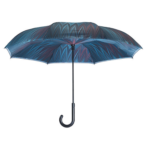 Midnight Stick Umbrella Reverse Close
