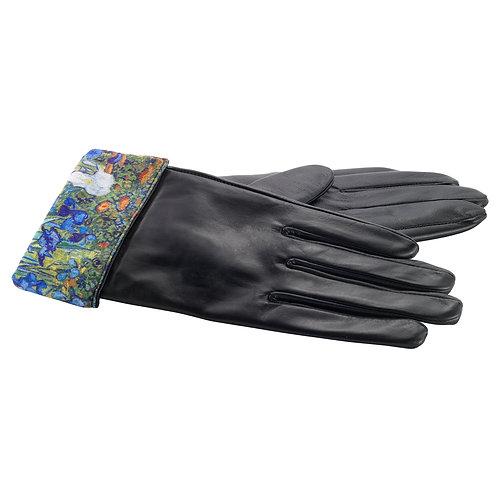 Van Gogh Irises Leather Gloves