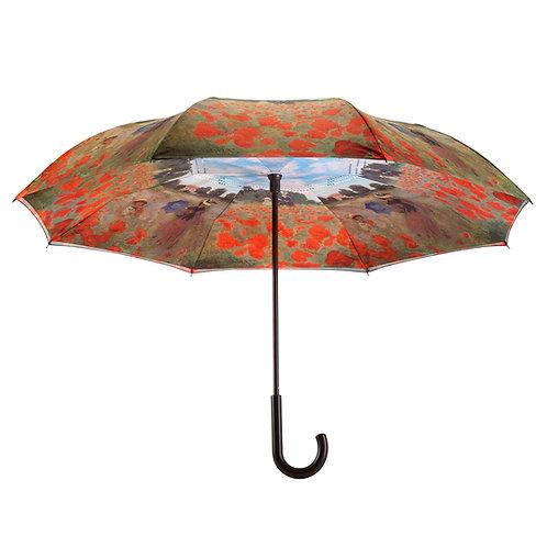 Poppy Field  Stick Umbrella Reverse Close