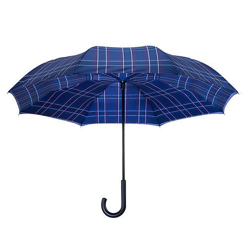 Blue Plaid RC Stick Umbrella