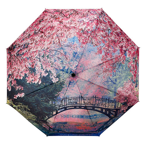 Cherry Blossoms Folding Umbrellaa