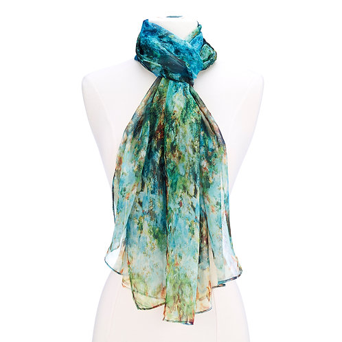 The House at Giverny Viewed From Rose Garden Scarf
