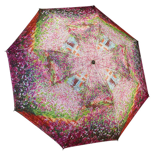 Monet's Garden Reverse Close Folding Umbrella