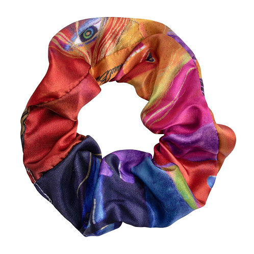 Laurel Burch Wild Horses of Fire Scrunchie