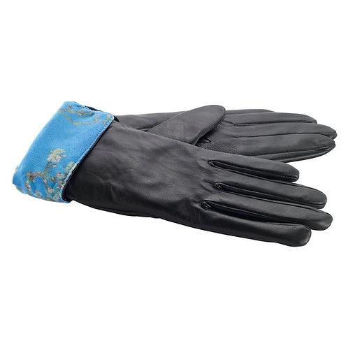Van Gogh Almond Blossom Leather Gloves
