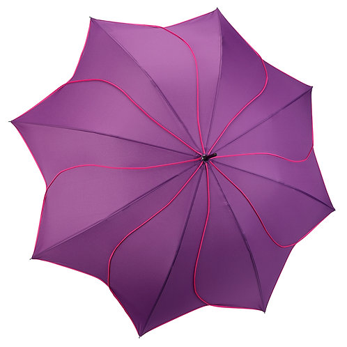 Violet / Pink Swirl Stick Umbrella