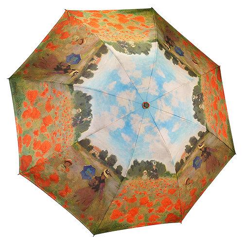 Poppy Field Reverse Close Folding Umbrella
