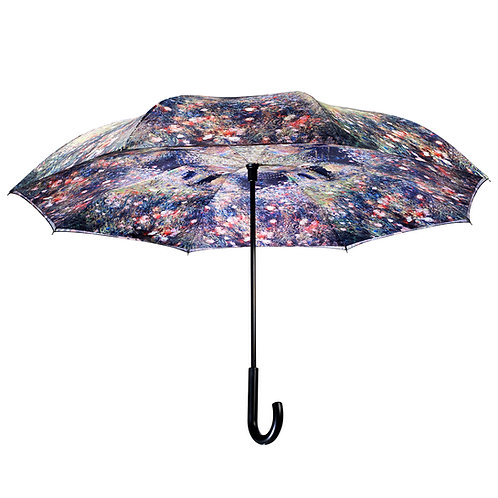 Renoir, Woman with a Parasol in a garden Stick Umbrella Reverse Close