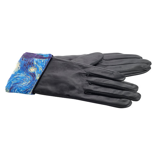 Starry Night Leather Gloves