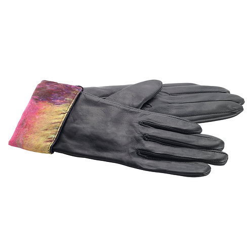 Waterlilies at Sunset Leather Gloves