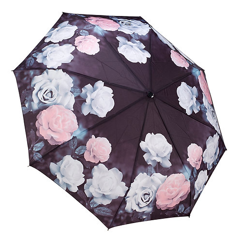Vintage Roses Reverse Close Folding Umbrella