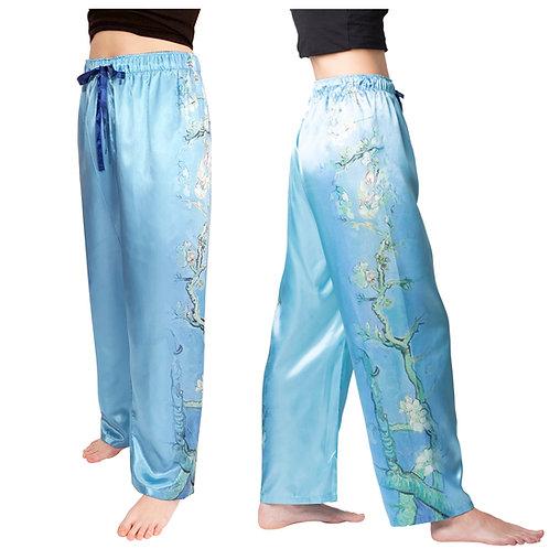 Van Gogh Almond Blossom-Satin Pajama Pants