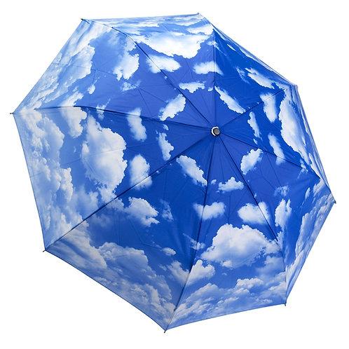 Clear Skies Reverse Close Folding Umbrella