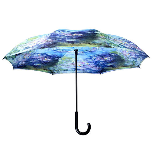 Monet, Water Lilies Stick Umbrella Reverse Close