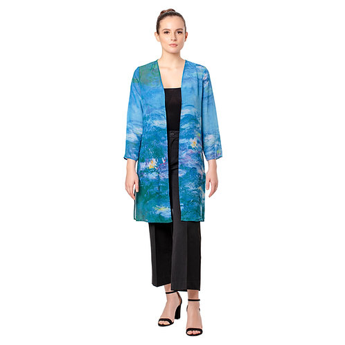 Monet Waterlilies Sheer Cardigans
