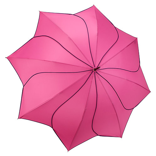 Pink / Navy Swirl Stick Umbrella