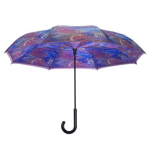 Unicorn Hair Stick Umbrella Reverse Close