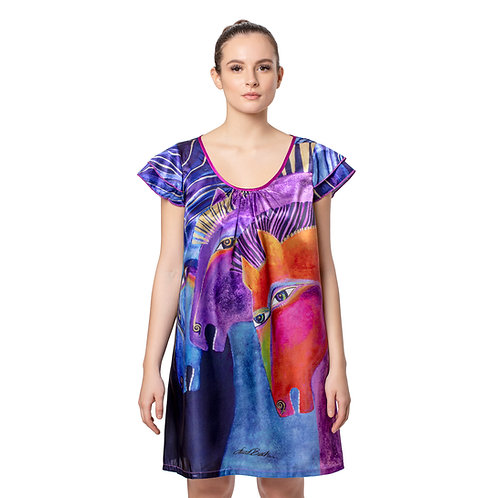 Laurel Burch Wild Horses of Fire Flutter Sleeve Nightgown
