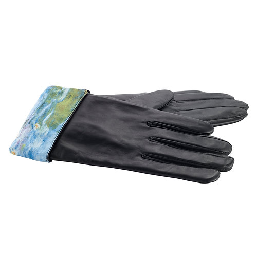 Water Lillies Leather Gloves