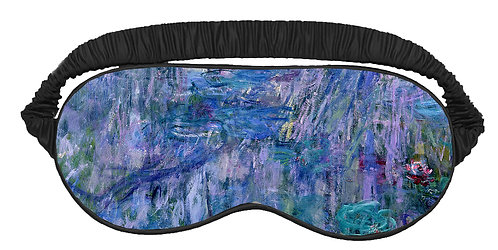 Waterlilies and Reflection of a Willow Tree Sleeping Mask