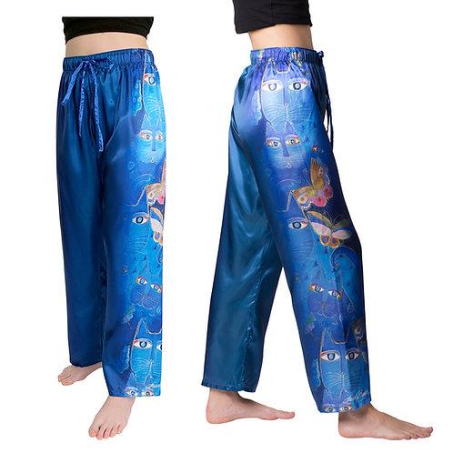 Laurel Burch Indigo Cats Pajama Pants