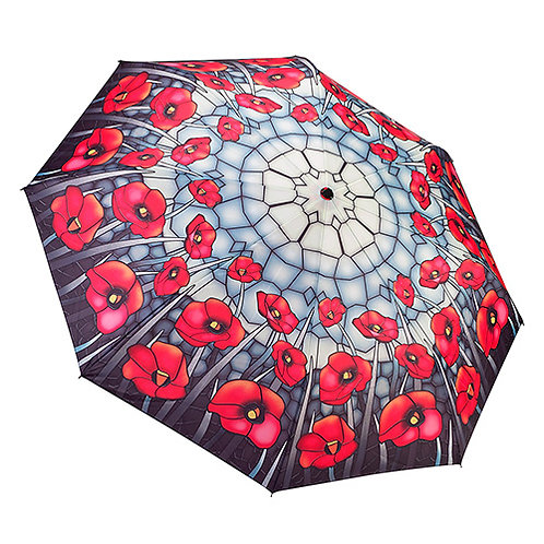Stained Glass Poppies - Folding