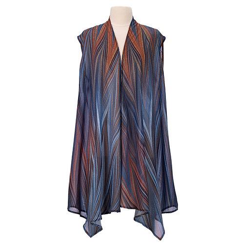 Midnight Sheer Long Vest