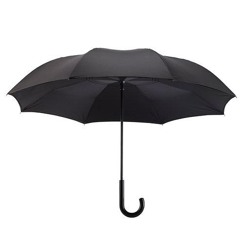 Black Stick Umbrella Reverse Close