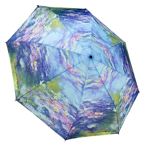 Water Lilies Close Folding Umbrella
