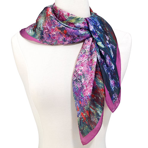 Monet Garden Square Scarf