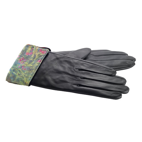 Irises by Monet Leather Gloves