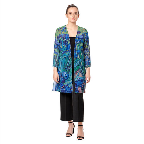 Van Gogh Irises Sheer Cardigan