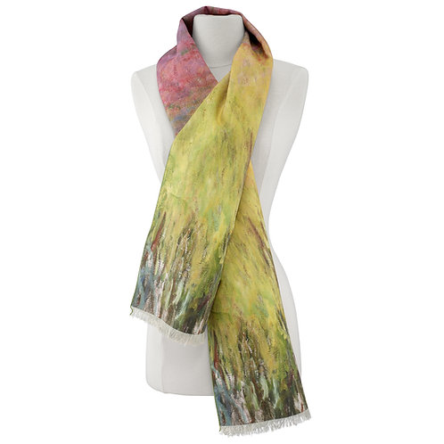 Waterlilies at Sunset Scarf