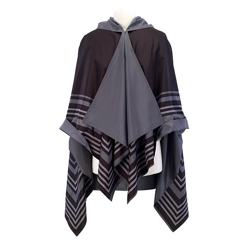 Black/Grey Bold Stripe RainCape
