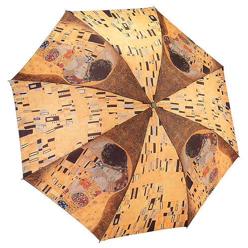 "Gustav Klimt ""The Kiss"" Reverse Close Folding Umbrella"