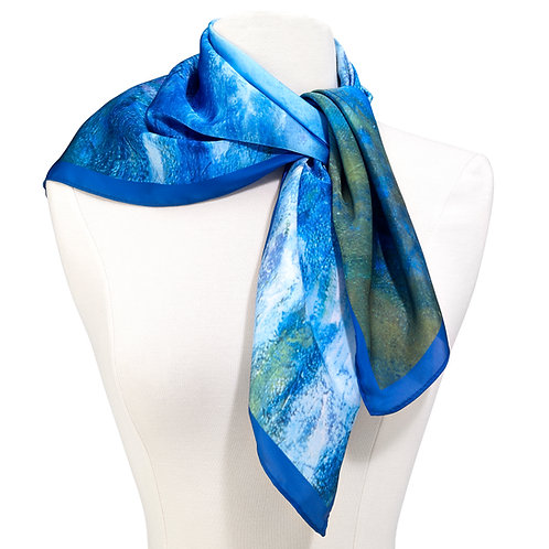 Monet Waterlilies Square Scarf