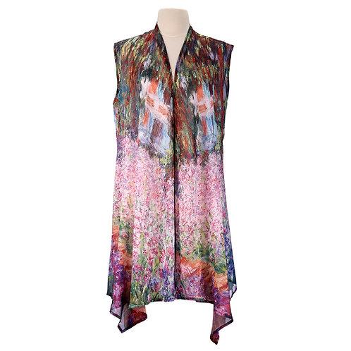 Monet Garden Sheer Long Vest