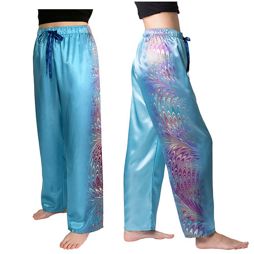 Unicorn Hair-Satin Pajama Pants