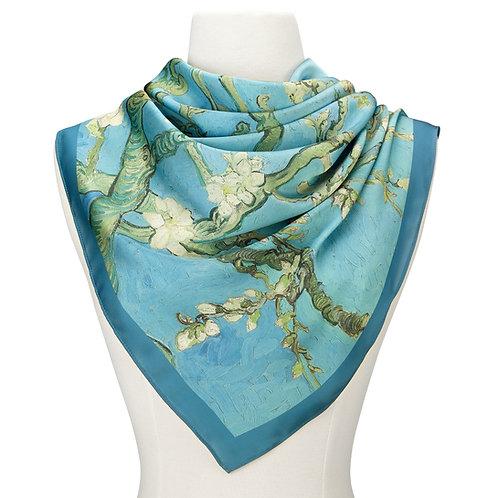 Van Gogh Almond Blossom Satin Chiffon Scarf