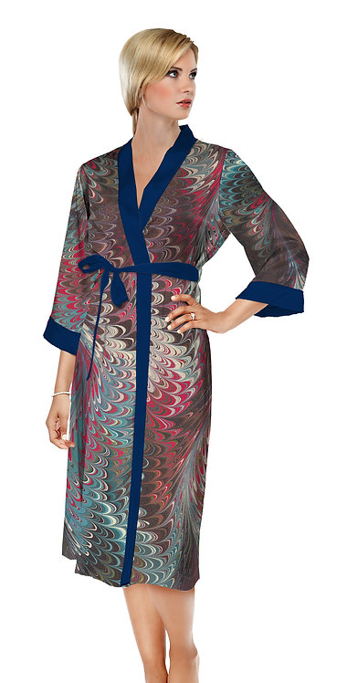 Hollyhill Satin Long Bathrobe