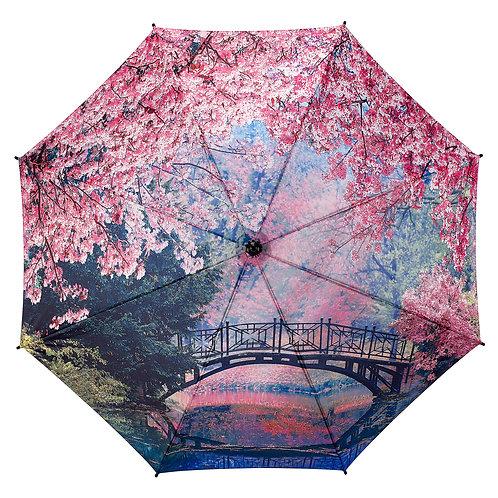 Cherry Blossoms Stick Umbrella