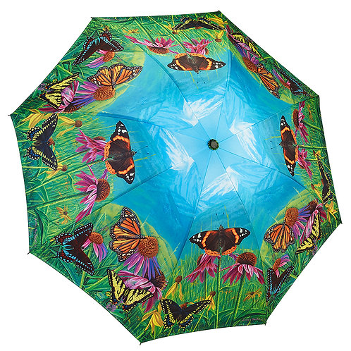 Butterfly Mountain Reverse Close Folding Umbrella