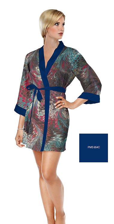 Hollyhill Satin Short Bathrobe