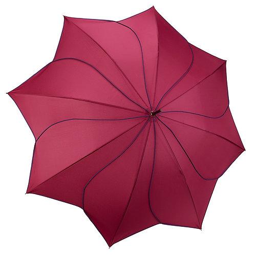 Purple / Navy Swirl Stick Umbrella