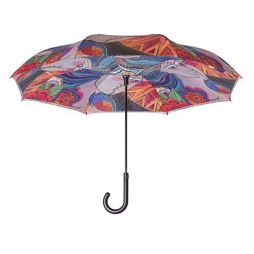 Laurel Burch Mikayla Stick Umbrella Reverse Close