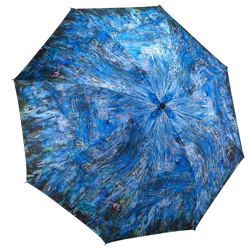 Waterlilies and Reflection of a Willow Tree Folding Umbrella