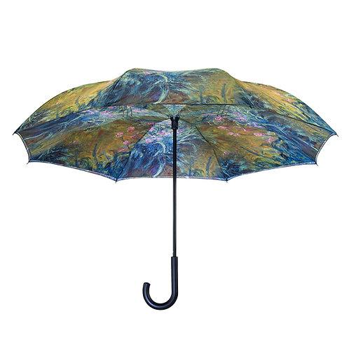 Irises by Monet RC Stick Umbrella